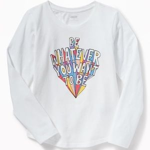 Old navy girls graphic long sleeve tee